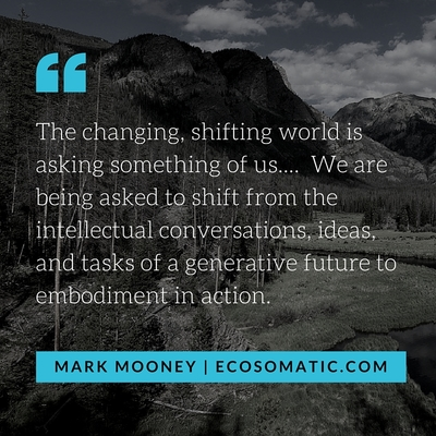 """The changing, shifting world is asking something of us..."" Mark Mooney"
